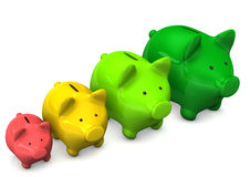 Piggy Bank Chart Stock Photos