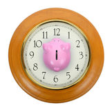 Piggy bank clock Stock Photos