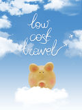 Piggy bank on a cloud with Stock Image