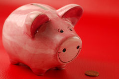 Piggy Bank and coin Royalty Free Stock Photo