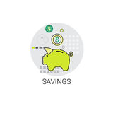Piggy Bank Coin Finance Savings Icon. Vector Illustration Stock Photo