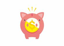 Piggy Bank. Coin for saving your money Royalty Free Stock Photography