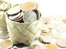 Piggy bank, coins collection, save money Stock Image
