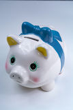 Piggy bank, coins savings, business concept Stock Images