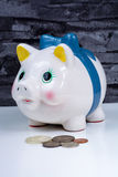 Piggy bank, coins savings, business concept Stock Photo