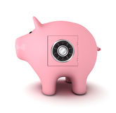 Piggy bank with combination lock Stock Images