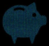 Piggy Bank Composition Icon of Halftone Spheres. Halftone Piggy bank mosaic icon of circle elements in blue shades on a black background. Vector circle bubbles Royalty Free Stock Image