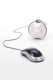 Piggy Bank and computer mouse royalty free stock image