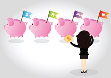 Piggy bank Concept Stock Images