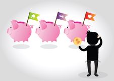 Piggy bank Concept Royalty Free Stock Photos