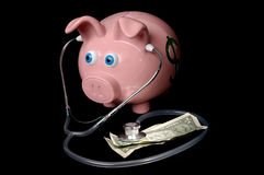 Piggy Bank Concept of Financial Heath Stock Photos