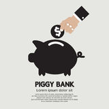 Piggy Bank. Concept In Flat Style Vector Illustration Royalty Free Stock Photos