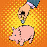 Piggy Bank contribution money Royalty Free Stock Photo