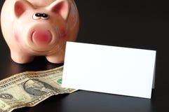 Piggy bank and copyspace Stock Photos
