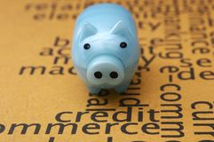 Piggy bank and credit concept Royalty Free Stock Photography