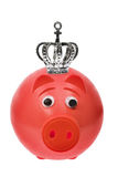 Piggy Bank with Crown Royalty Free Stock Photos