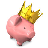 Piggy Bank Crown Royalty Free Stock Images