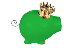 Piggy Bank with Crown Royalty Free Stock Image