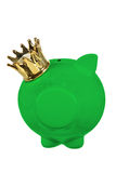 Piggy Bank with Crown Stock Image