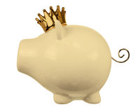 Piggy Bank with Crown Royalty Free Stock Images