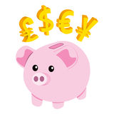 Piggy Bank Currency Royalty Free Stock Photography