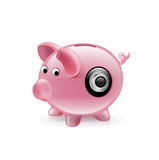 Piggy bank with cypher  Royalty Free Stock Image