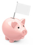 The piggy bank Royalty Free Stock Images
