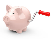 The piggy bank. 3d generated picture of a special piggy bank royalty free illustration