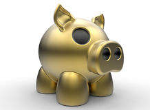 Piggy bank. 3D rendered illustration of a piggy bank. The object is isolated on a white background with shadow Royalty Free Stock Image