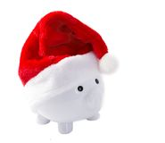 Piggy Bank destined for Christmas Stock Photo