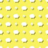 Piggy Bank And Dollar Coins Savings Seamless Background. Pattern Royalty Free Stock Photo