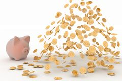 Piggy Bank and Dollar Stock Photos