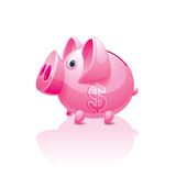 Piggy bank with a dollar sign Stock Photography