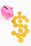 Piggy bank and dollar sign Stock Photos