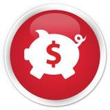 Piggy bank dollar sign icon premium red round button Royalty Free Stock Photo