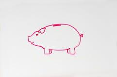Piggy Bank Drawing stock photos