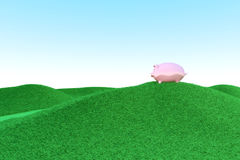 Piggy bank ecology Stock Photography