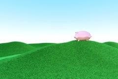 Piggy bank ecology royalty free illustration