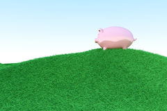 Piggy bank ecology Royalty Free Stock Photos