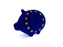 Piggy bank EU Royalty Free Stock Images