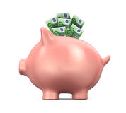 Piggy Bank with Euro Stock Images