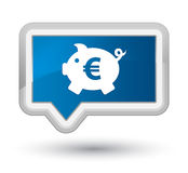 Piggy bank euro sign icon prime blue banner button Royalty Free Stock Photos
