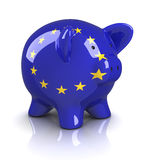Piggy Bank -European Union Stock Photo