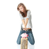 Piggy bank execution Stock Photo