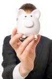 Piggy bank face Stock Photos