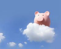 Piggy bank flying free Stock Photos