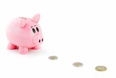 Piggy Bank Follows Mexican Money Trail Royalty Free Stock Photo