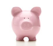 Piggy bank front view Royalty Free Stock Photos