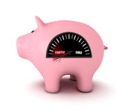 Piggy bank with fuel gauge Royalty Free Stock Photography