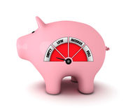 Piggy bank with fuel gauge Stock Photography
